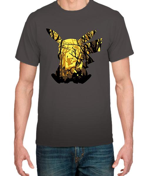 Serie-Camiseta-El-Bosque-electrico-de-Pikachu