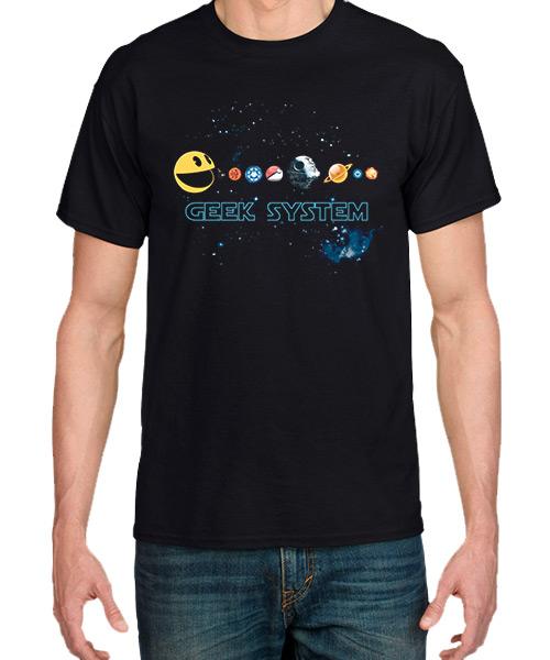 Videojuegos-Camiseta-Sistema-Solar-Geek