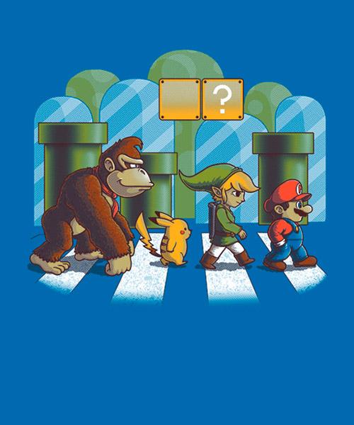 Videojuegos-Camiseta-El-sendero-de-Mario-Bros