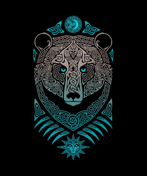 Cine-Camiseta-Oso-de-origen-celtico