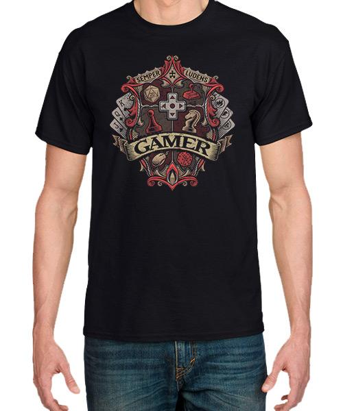 Videojuegos-Camiseta-Insignia-Gamer