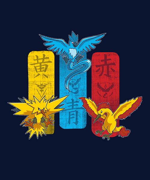 Videojuegos-Camiseta-Equipos-de-Pokemon-GO