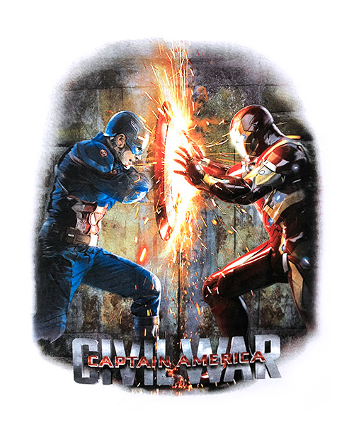 Camiseta Civil War: Capitán América Vs. Iron Man