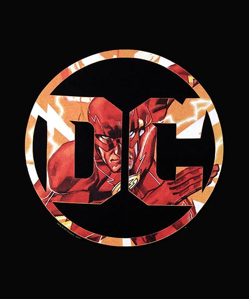 Cine Camiseta Flash en el Logo DC