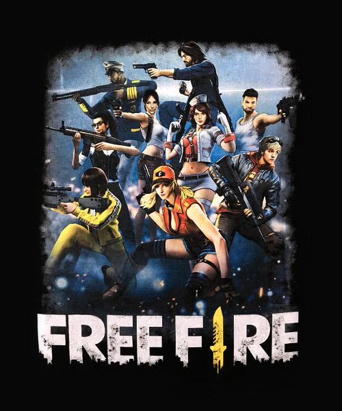 Videojuegos-Camiseta-Free-Fire