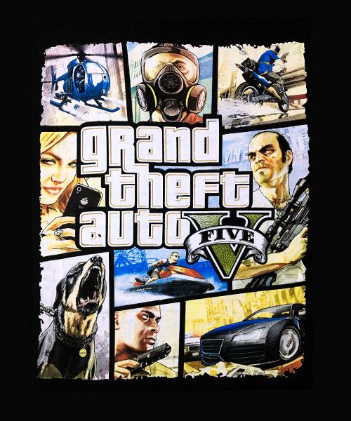 Videojuegos-Camiseta-Grand-Theft-Auto-V
