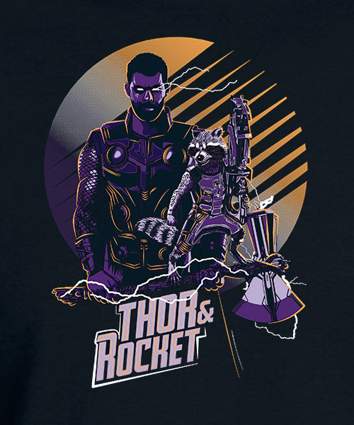 Camiseta Thor y Rocket Endgame