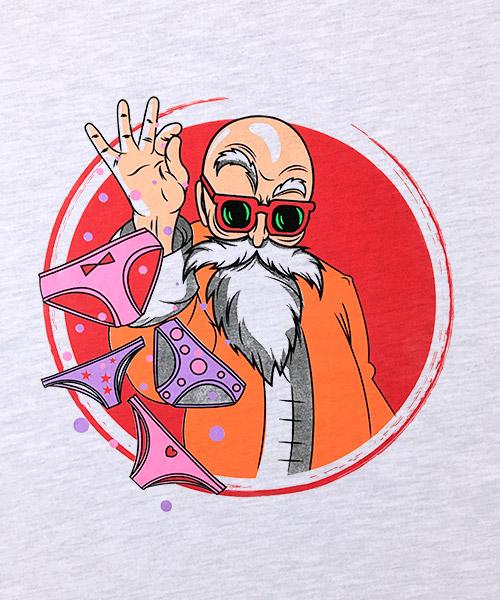 Series Ilustracion Maestro Roshi con pantys