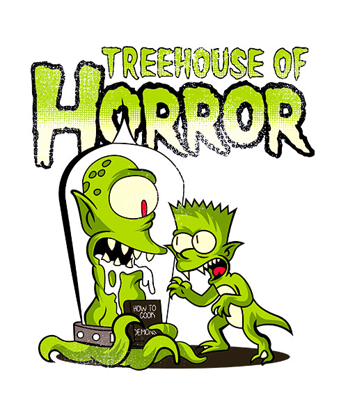 Ilustración Treehouse of Horror Simpsons