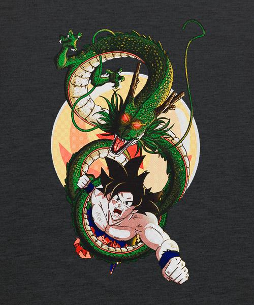 Camiseta Goku con Sheng Long de Dragon Ball Z