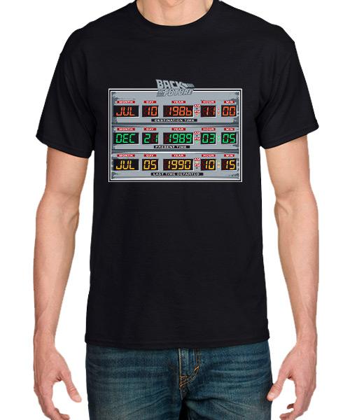 Camiseta Back to the Future Panel de Control