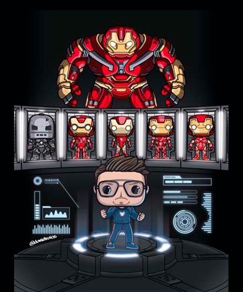 Cuadro Iron Man Funko Pop!