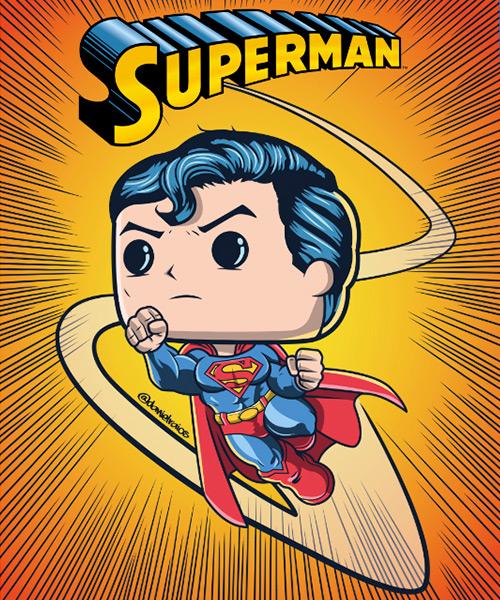 Cuadro Superman Funko Pop!