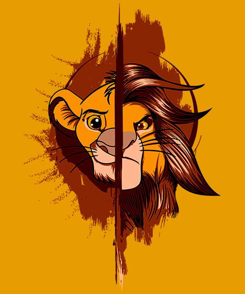 Camiseta Simba Mufasa del Rey León