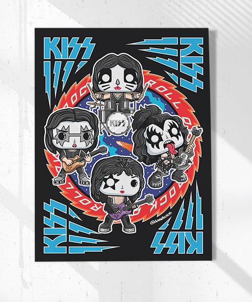 Cuadro Kiss Rock Funko Pop!