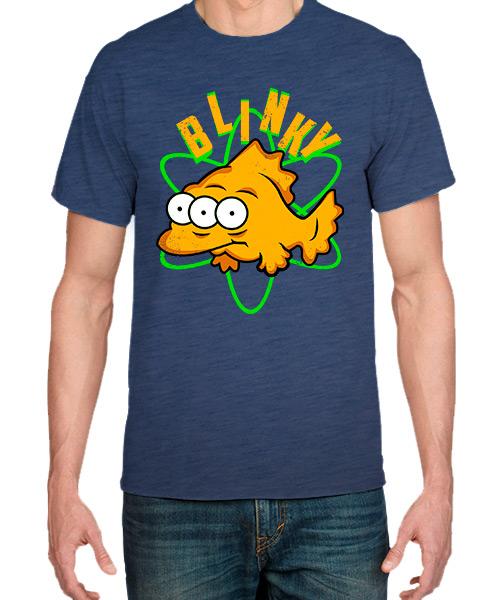 Camiseta pez Blinky de Los Simpsons