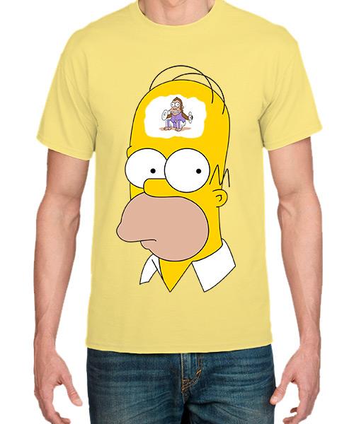 Camiseta Homero Simpsons pensando