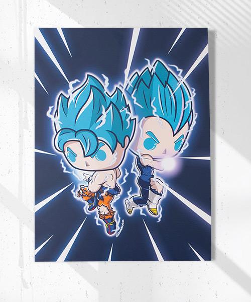 Cuadro Goku y Vegeta Funko Pop!