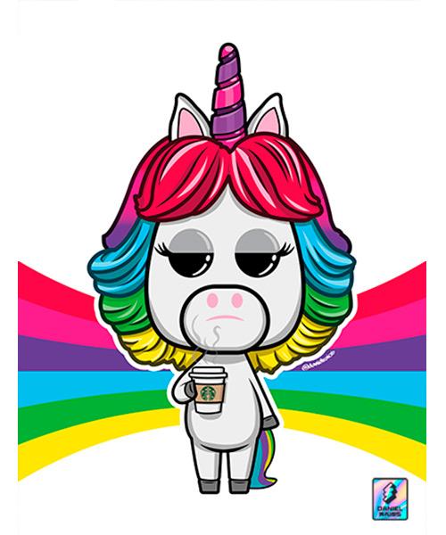Cuadro Unicornio Arcoiris Funko Pop!