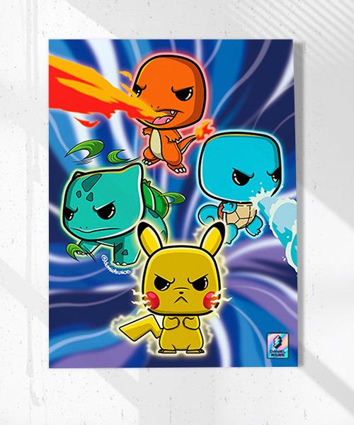 Cuadro Pokemones Funko Pop!