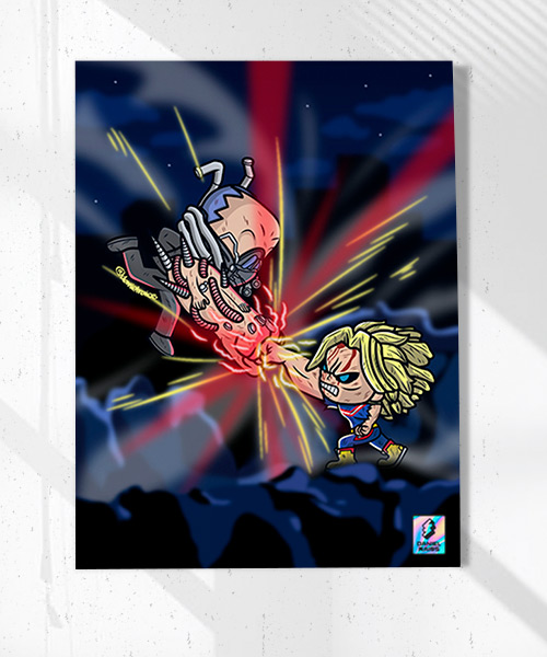 Cuadro All Might Vs. All For One Funko Pop!