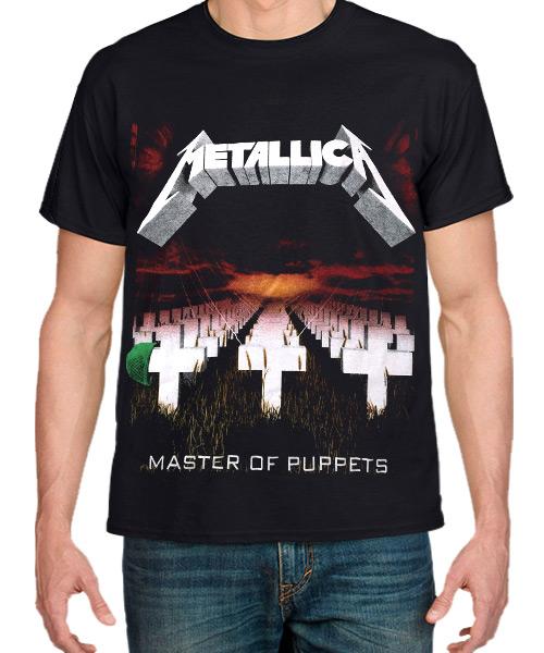 Camiseta Master Of Puppets de Metallica