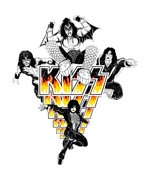 Camiseta Kiss Roll Al Nite