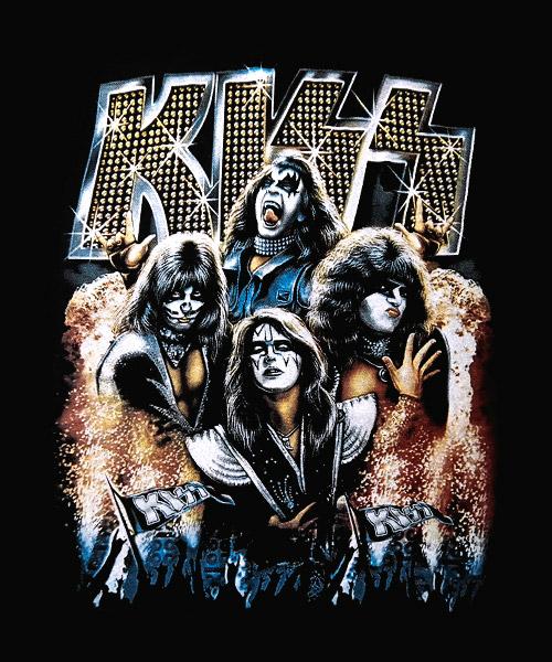 Camiseta Kiss Luces