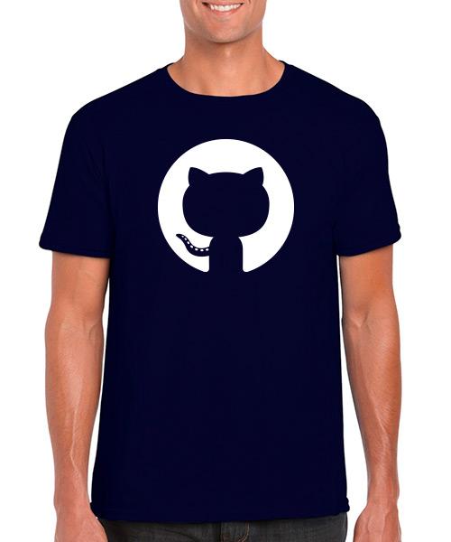 Desarrollo Web Camiseta GitHub Azul Marino