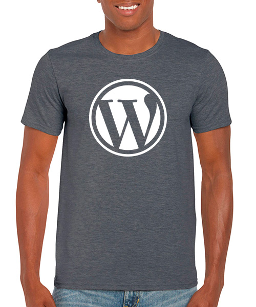 Desarrollo Web Camiseta Wordpress Jaspe Oscuro