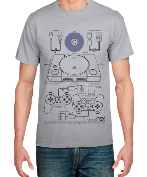 Videojuegos Camiseta PlayStation Consola PSOne