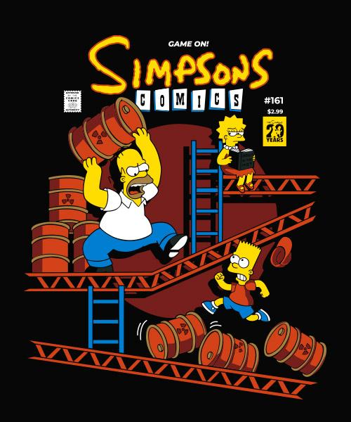 Simpsons Comics Camiseta Mandrágora Store Negro
