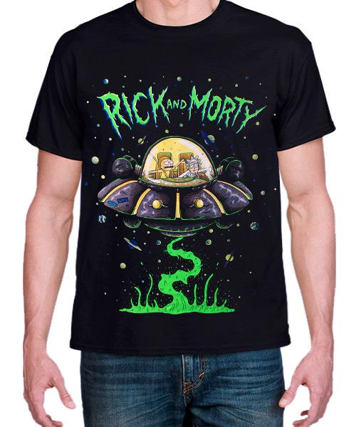 Camiseta Mandrágora Store Rick & Morty en el Crucero Espacial