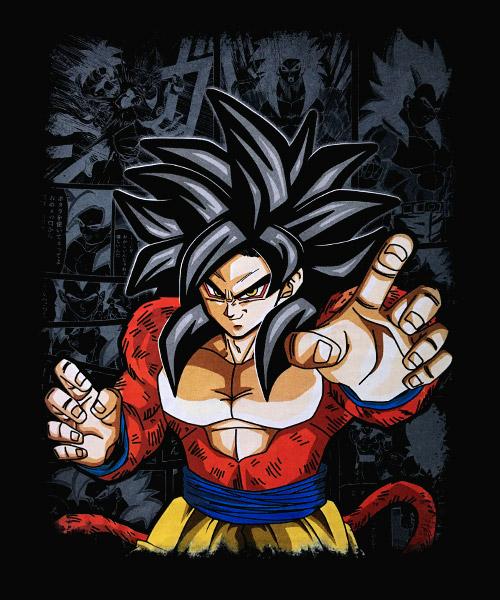 Camiseta Mandrágora Store Goku Cuarta Fase
