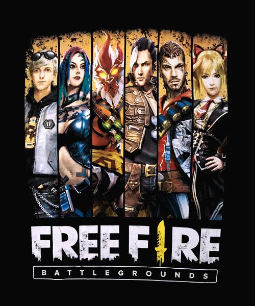 Camiseta Mandrágora Store Free Fire Battlegrounds