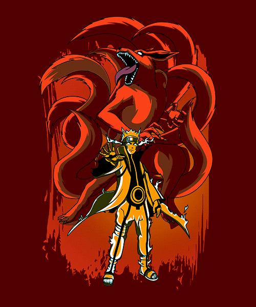 Camiseta Mandrágora Store Naruto Kurama