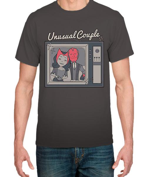 Camiseta Mandrágora Store Wanda Vision Unusual Couple