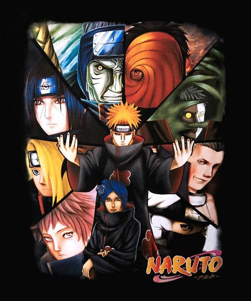 Camiseta Mandrágora Store Naruto con los Miembros de Akatsuki