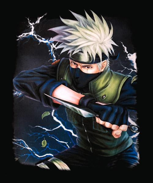 Camiseta Mandrágora Store Naruto Kakashi con Sharingan
